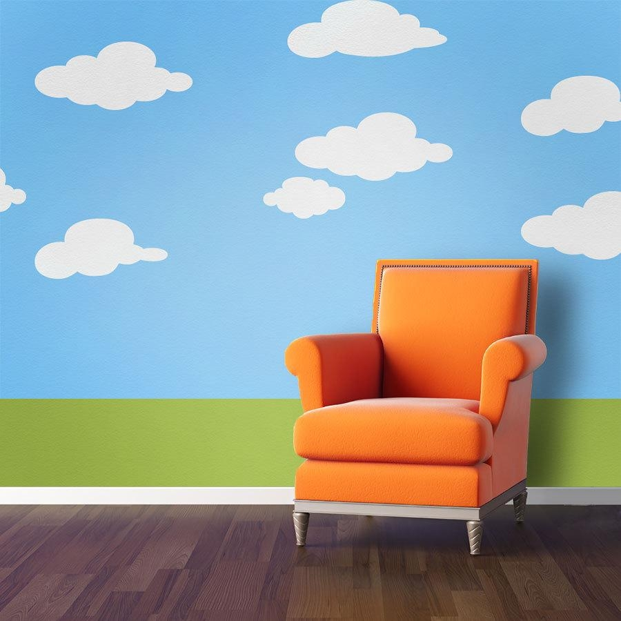 Cloud Wall Stencils For Baby Nursery Or Kids Room Stl1013 In Space Stencils For Walls (View 3 of 20)