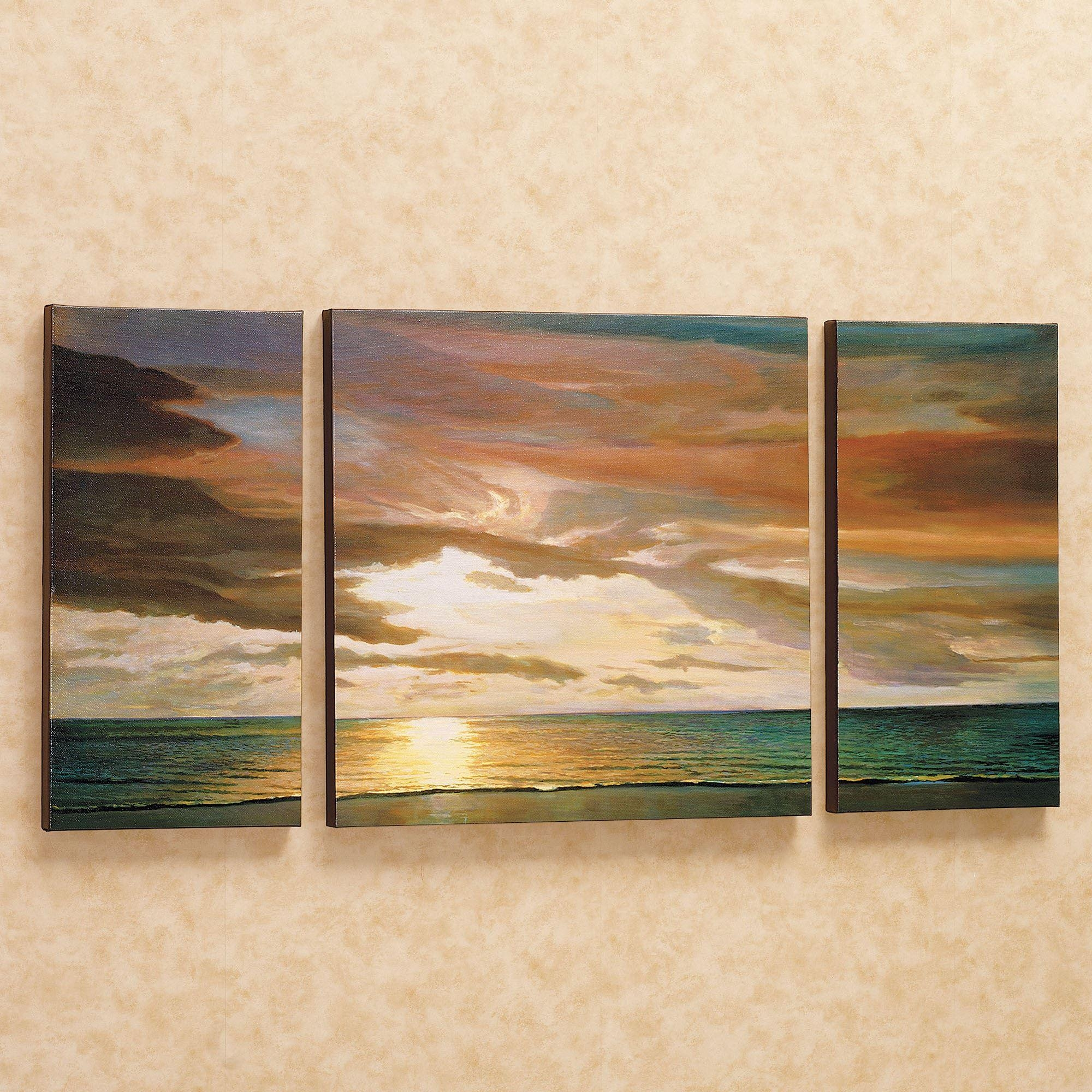 Coastal And Tropical Canvas Wall Art   Touch Of Class Within Coastal Wall Art Canvas (View 9 of 20)