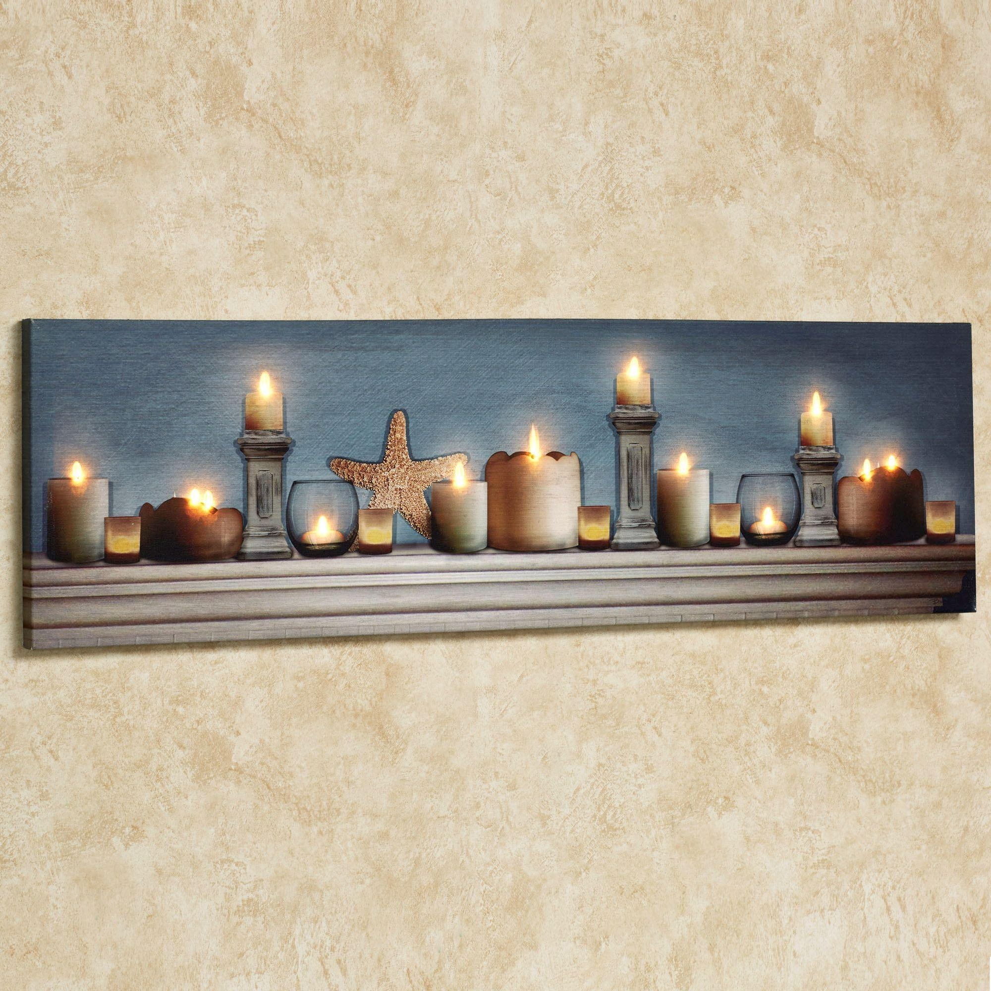 Coastal Charm Led Lighted Canvas Wall Art Regarding Coastal Wall Art Canvas (Image 7 of 20)