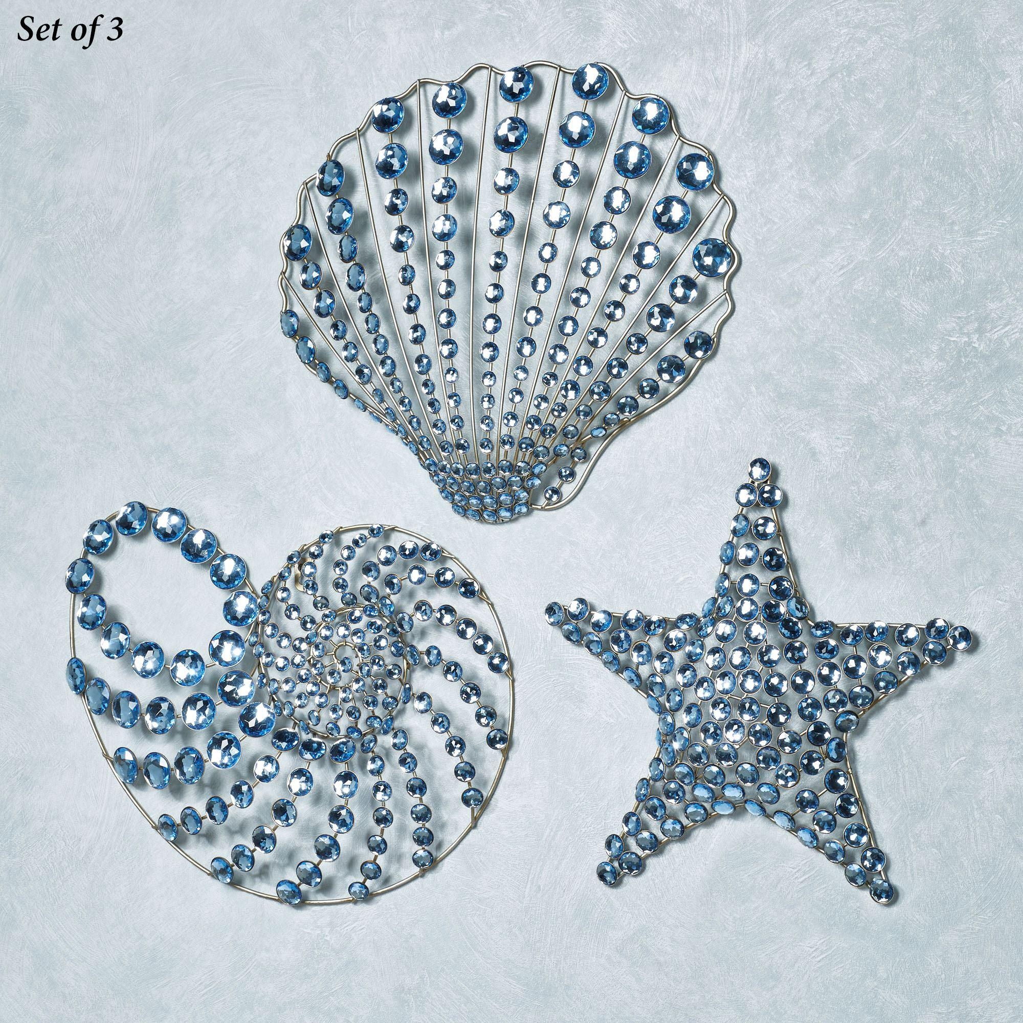 Coastal Gems Seashell Metal Wall Art Set Inside Coastal Wall Art (Photo 19 of 20)