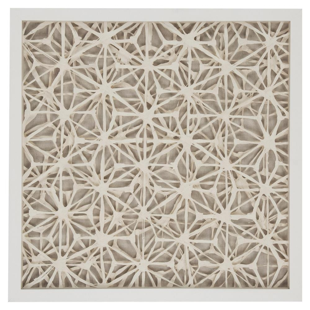 Coastal Modern Abstract Paper Framed Wall Art – Ii | Kathy Kuo Home For Neutral Wall Art (Image 8 of 20)