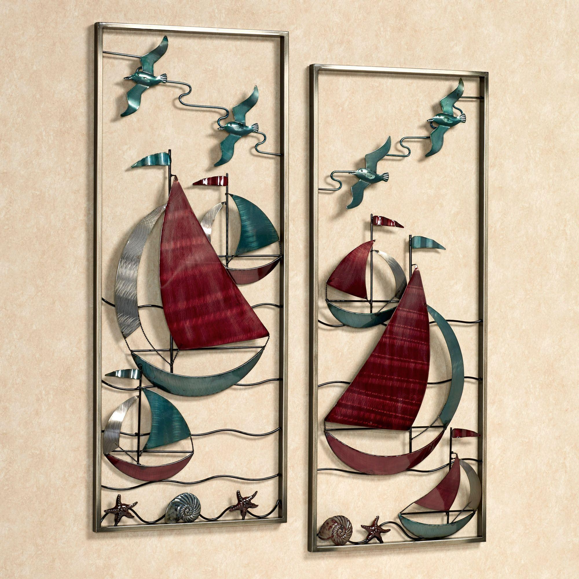 Coastal Wall Art | Touch Of Class In Sailboat Metal Wall Art (Image 5 of 20)