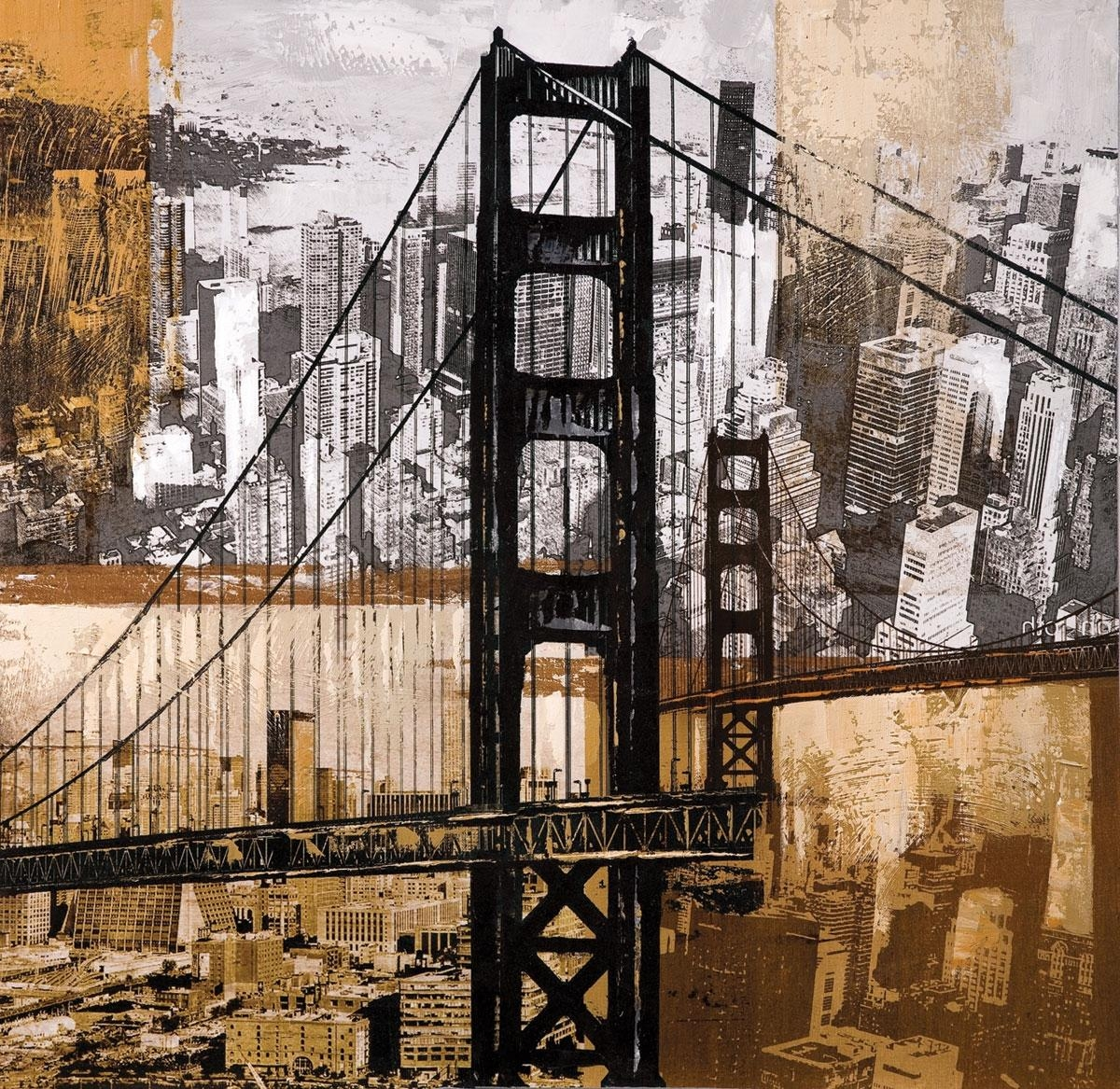 Coaster Fine Furniture 960545 Golden Gate City Wall Art Within Iron Gate Wall Art (Image 4 of 20)