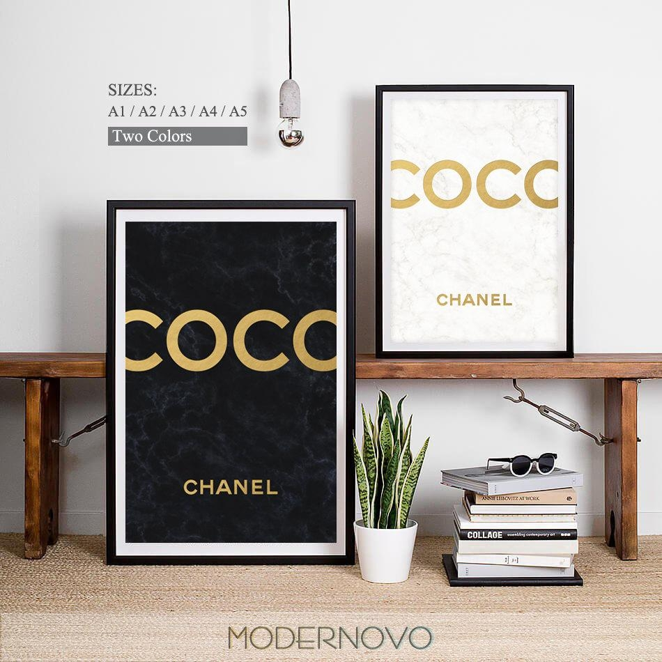 Coco Chanel Coco Logo Coco Chanel Logo Bedroom Decor Coco Throughout Chanel Wall Decor (Image 7 of 20)
