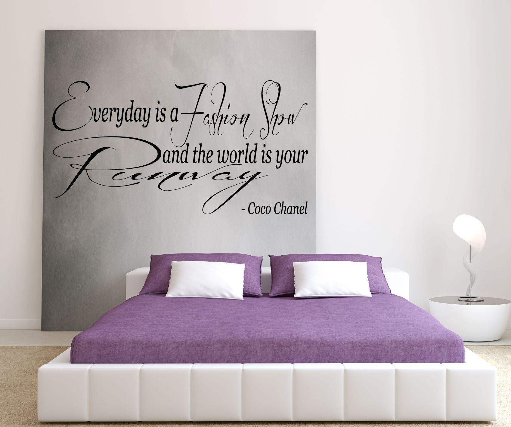 Coco Chanel – Everyday Is A Fashion Show And The World Is Your Throughout Coco Chanel Wall Decals (Image 7 of 20)