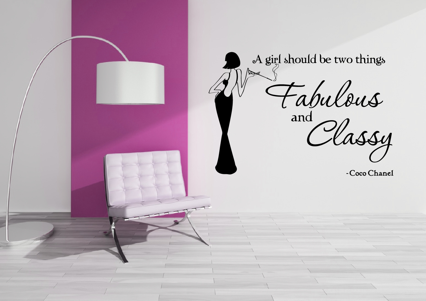 Coco Chanel – Fab & Classy – Grafix Wall Art With Coco Chanel Wall Decals (View 18 of 20)