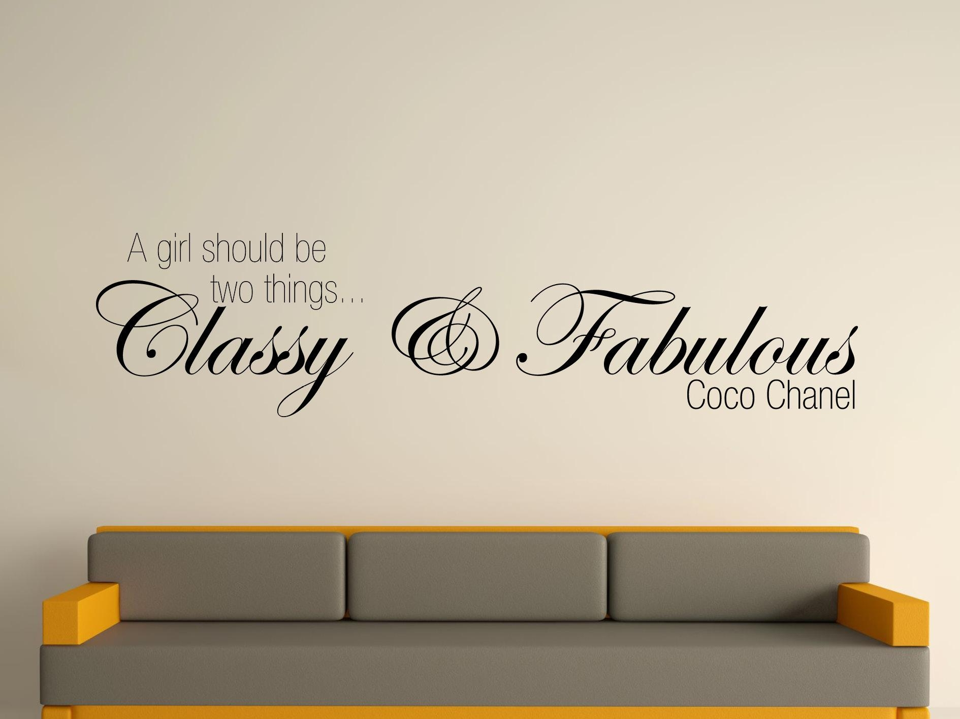 Coco Chanel Quotes Wall Decals Quotesgram Home Furniture Diy Decor For Coco Chanel Wall Stickers (Image 9 of 20)