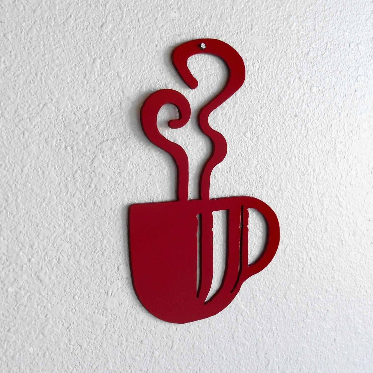 20 best ideas metal coffee cup wall art wall art ideas coffee decor just 4 the art of it intended for metal coffee cup wall art amipublicfo Gallery