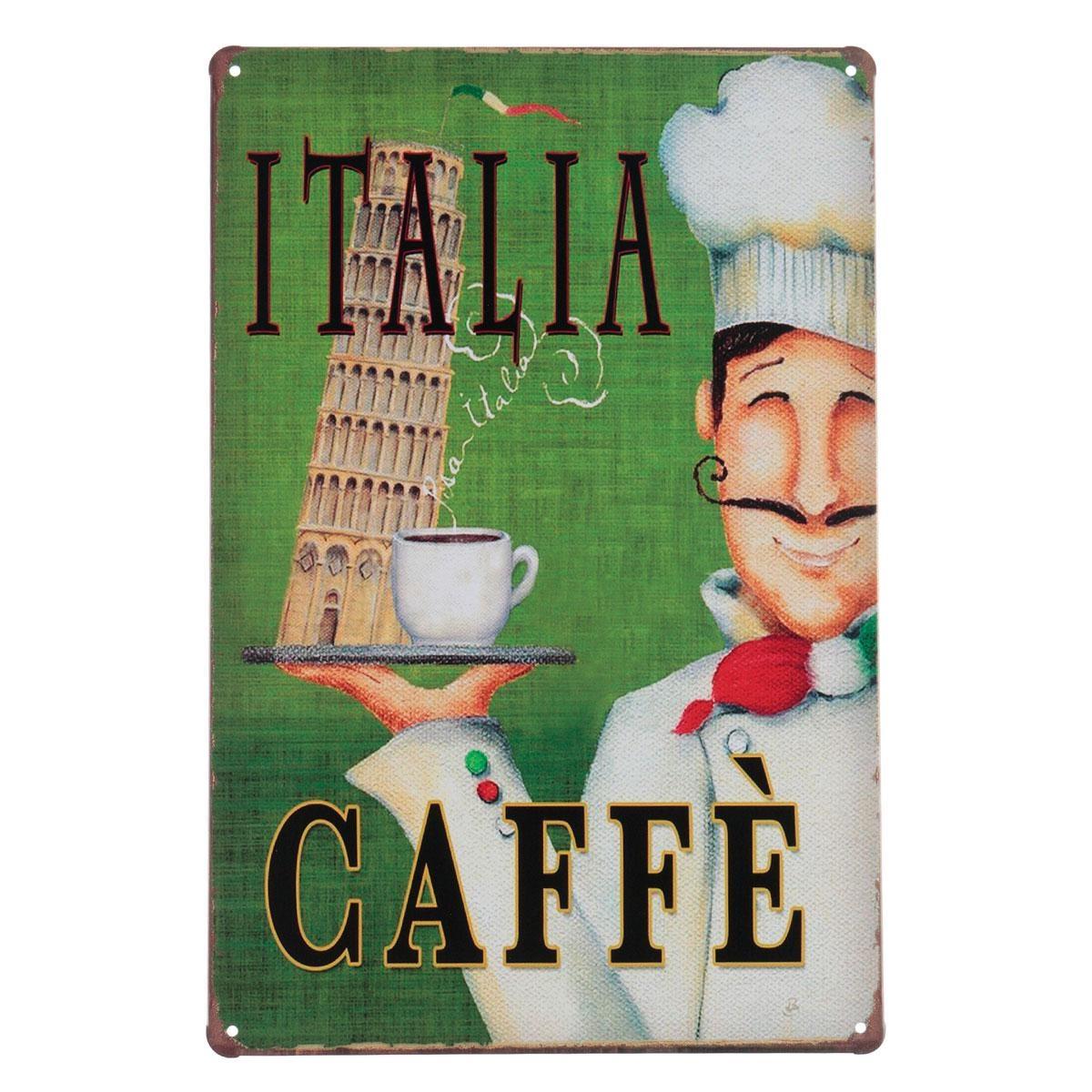 Coffee Menu Vintage Tin Sign Bar Pub Cafe Home Wall Decor Retro Inside Coffee Theme Metal Wall Art (Image 7 of 20)
