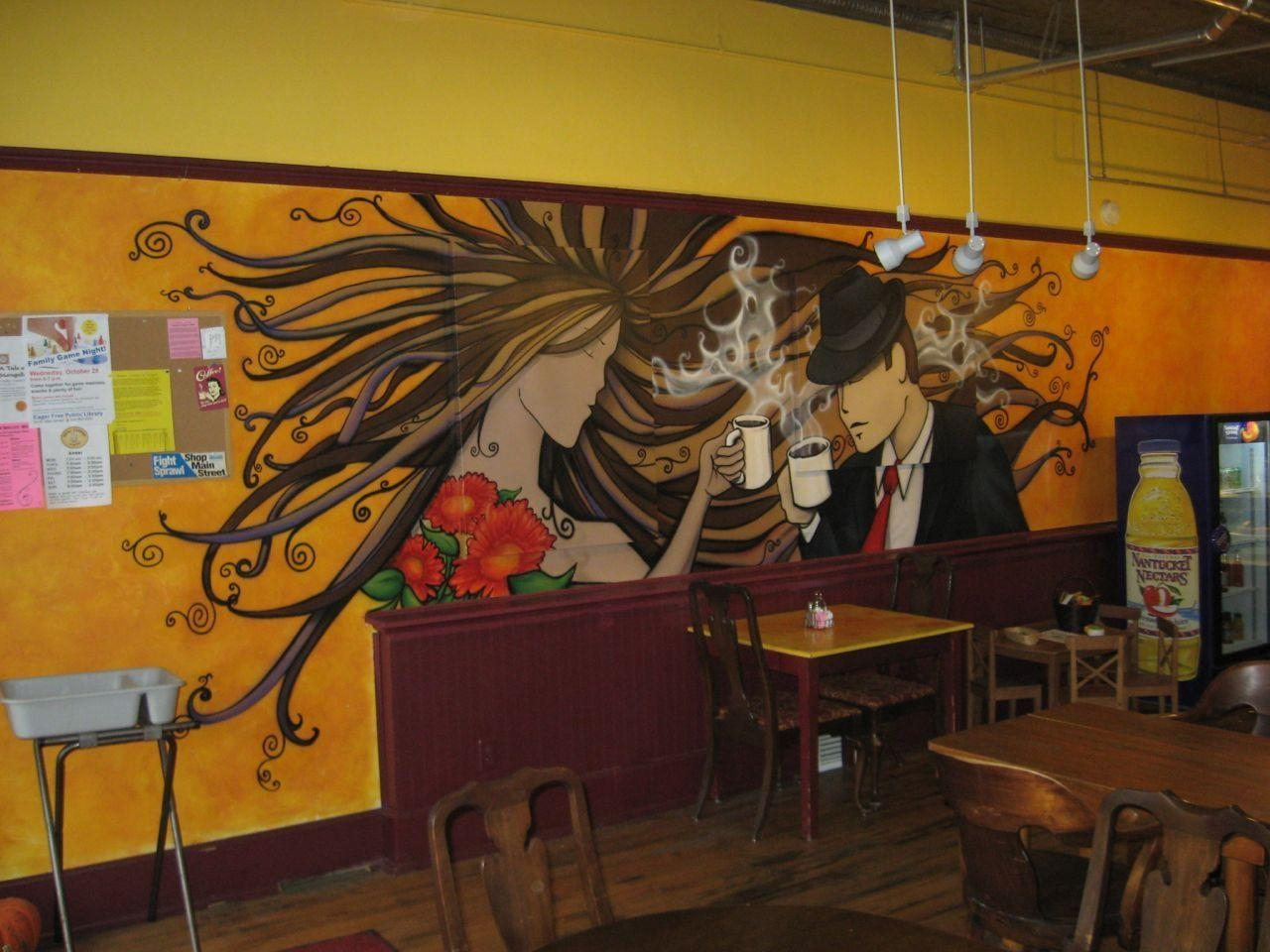 Coffee Shop Airbrush Mural (Time Lapse Video): 4 Steps (With Pictures) In Airbrush Wall Art (Image 7 of 20)