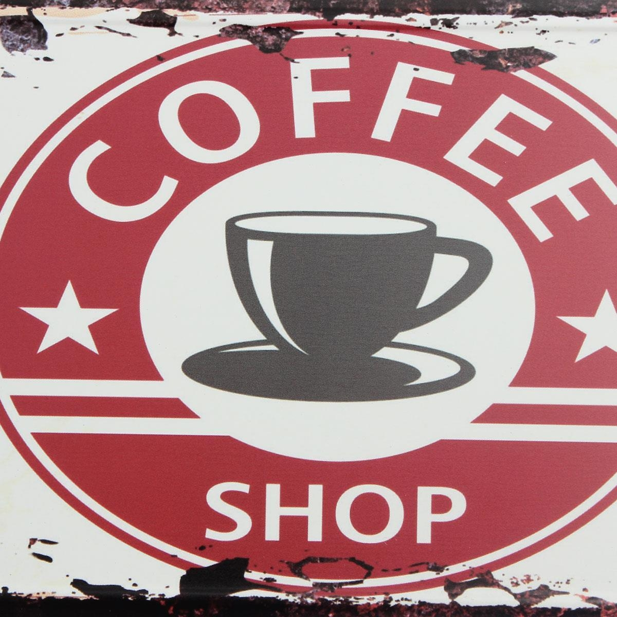 Coffee Theme Vintage Metal Sign The Fresh Brewed Coffee Wall Inside Coffee Theme Metal Wall Art (Image 8 of 20)