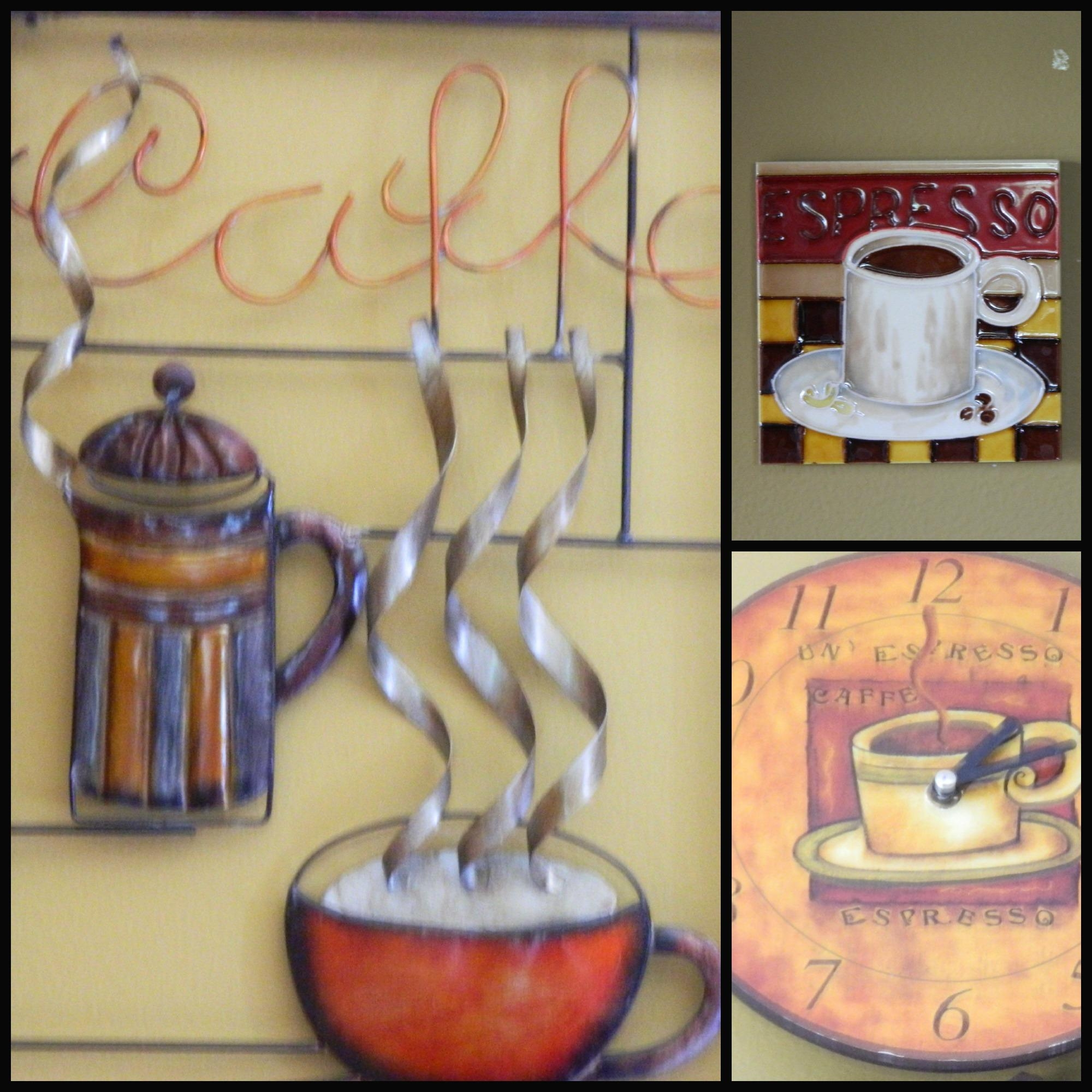 20 Best Collection Of Cafe Latte Kitchen Wall Art Wall Art Ideas Coffee  Themed Kitchen Decor