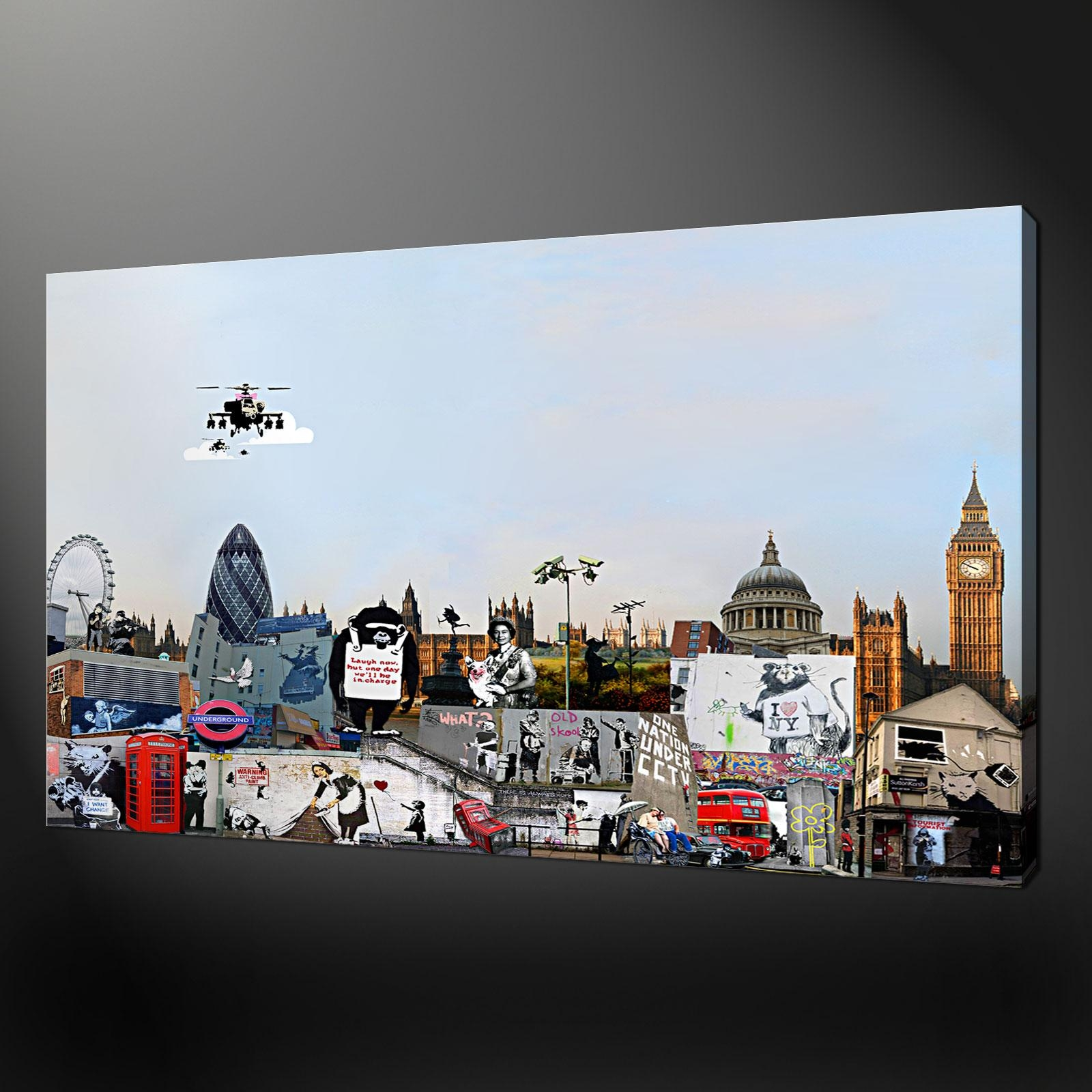 Collection Canvas Print Picture Wall Art With Regard To Banksy Wall Art Canvas (Image 15 of 20)