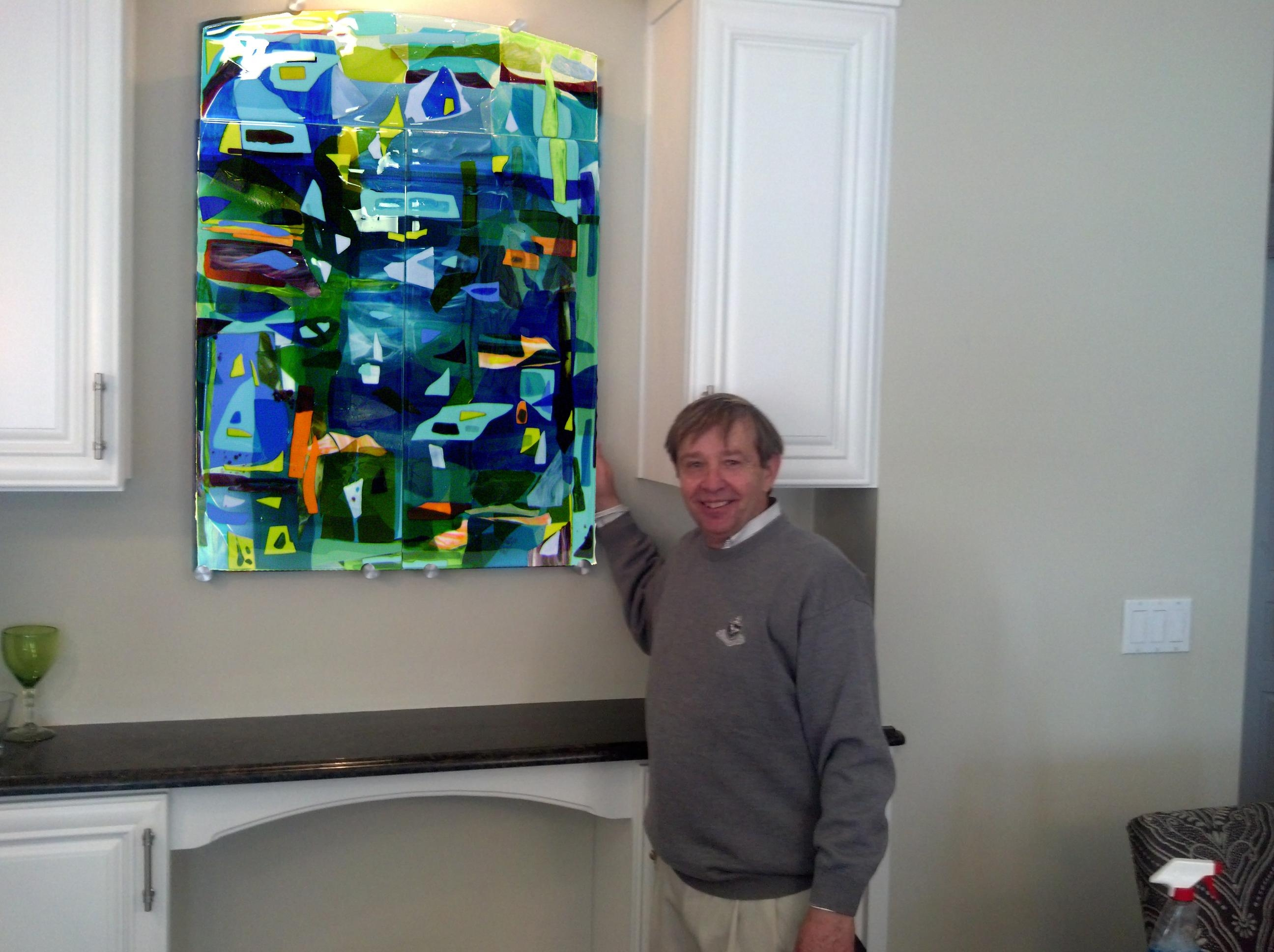 Colorful Fused Glass Wall Art Panel | Designer Glass Mosaics For Glass Wall Art Panels (View 4 of 20)