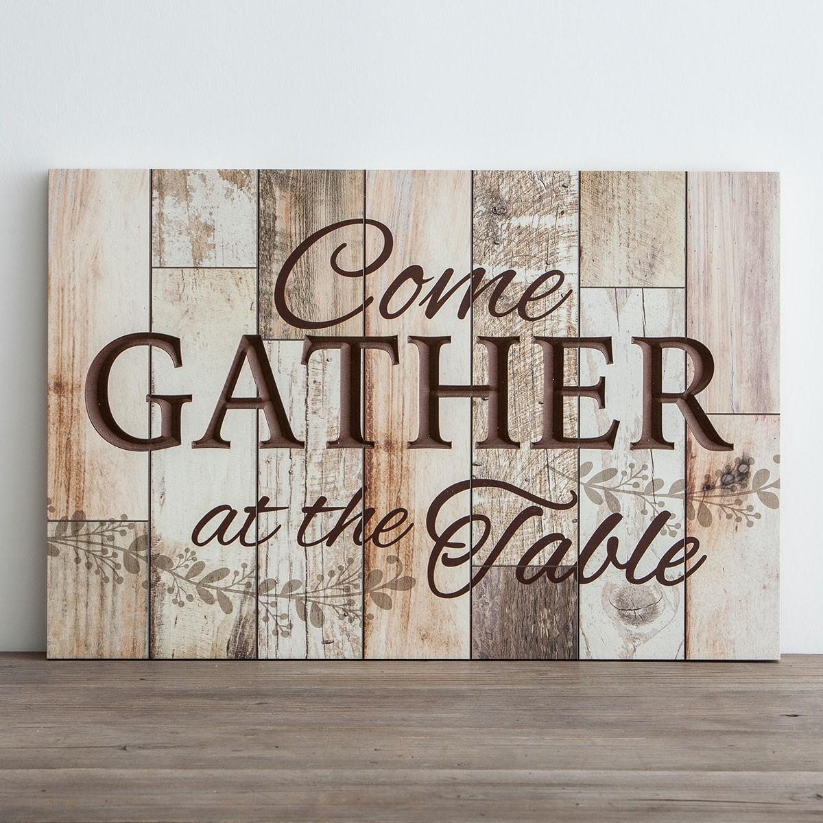 Come Gather At The Table – Wooden Wall Art | Dayspring In Wood Wall Art (Image 6 of 20)