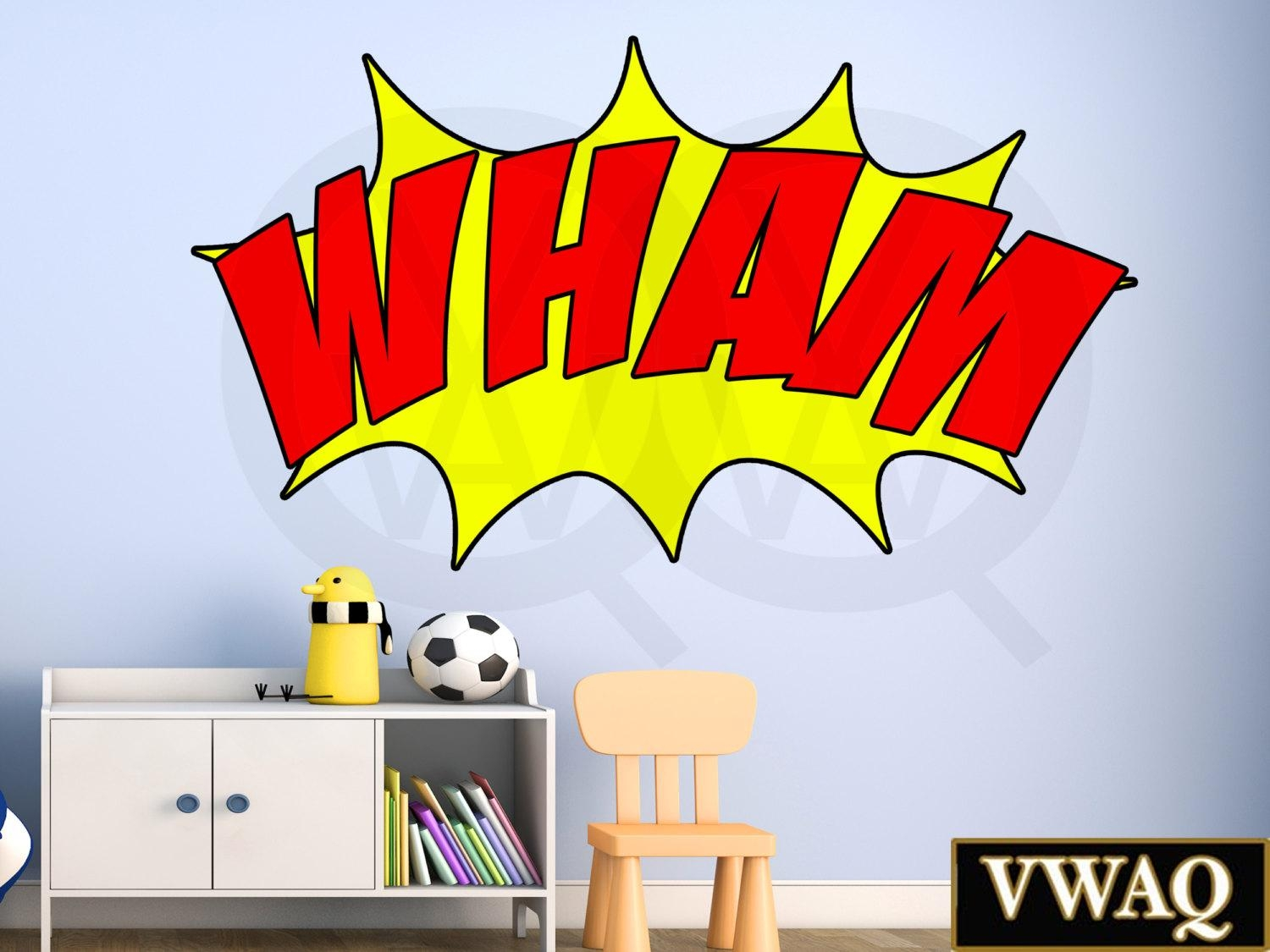 20 photos superhero wall art for kids wall art ideas comic book wham wall decal sound effect wall art superhero vinyl regarding superhero wall art for amipublicfo Choice Image