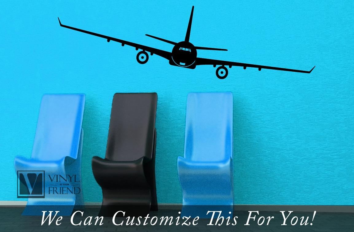 Commercial Airline Twin Jet Plane Aviation Large – A Wall Decor For Commercial Wall Art (Image 4 of 20)