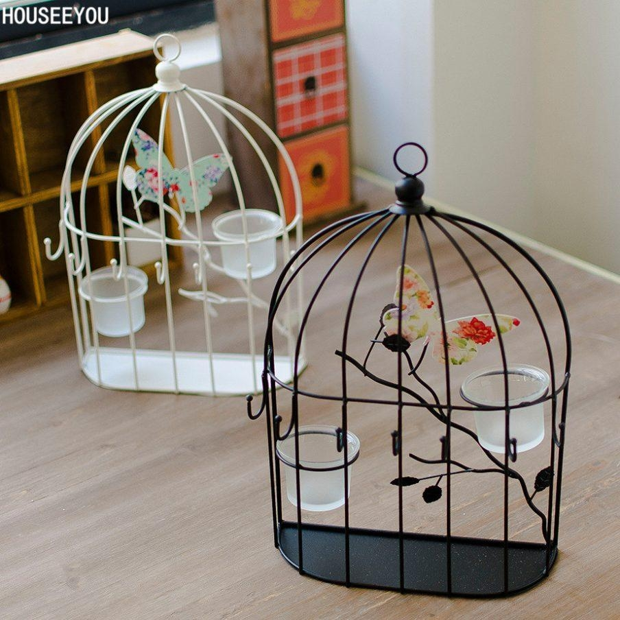Compact Decorative Birdcage Wall Hanging Full Image For Bird Throughout Metal Birdcage Wall Art (Image 9 of 20)