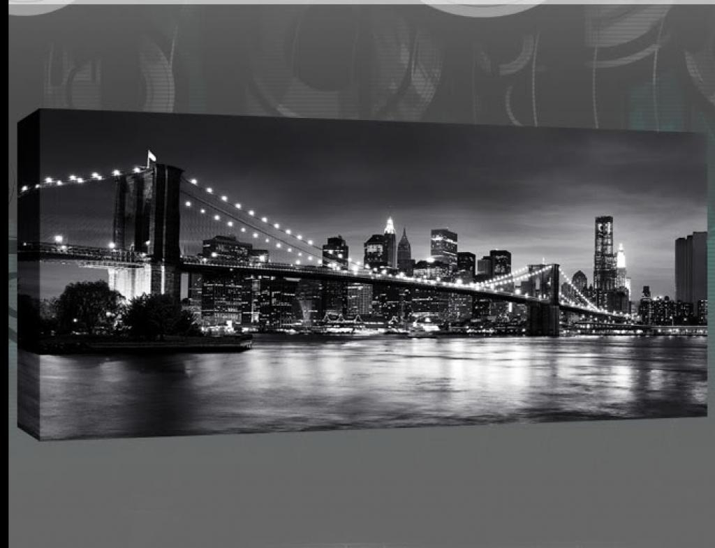 Compact New York Skyline Wall Art Stickers New York Skyline Canvas With Black And White New York Canvas Wall Art (Image 7 of 20)