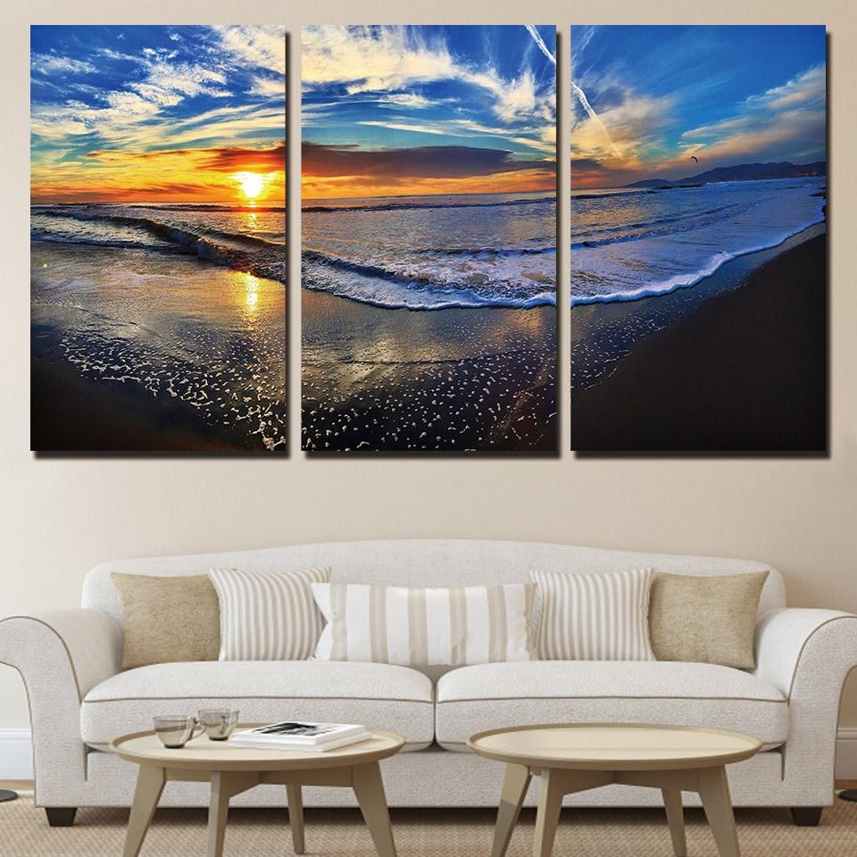 Compare Prices On 3 Piece Beach Wall Art Online Shopping/buy Low Inside 3 Piece Beach Wall Art (View 16 of 20)