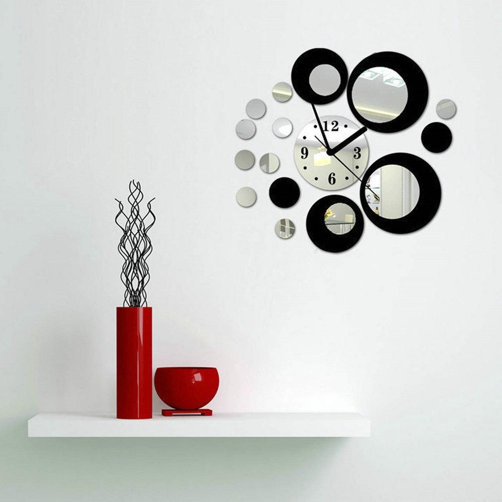Compare Prices On Abstract Circles Wall Art Online Shopping/buy Pertaining To Mirror Circles Wall Art (View 18 of 20)