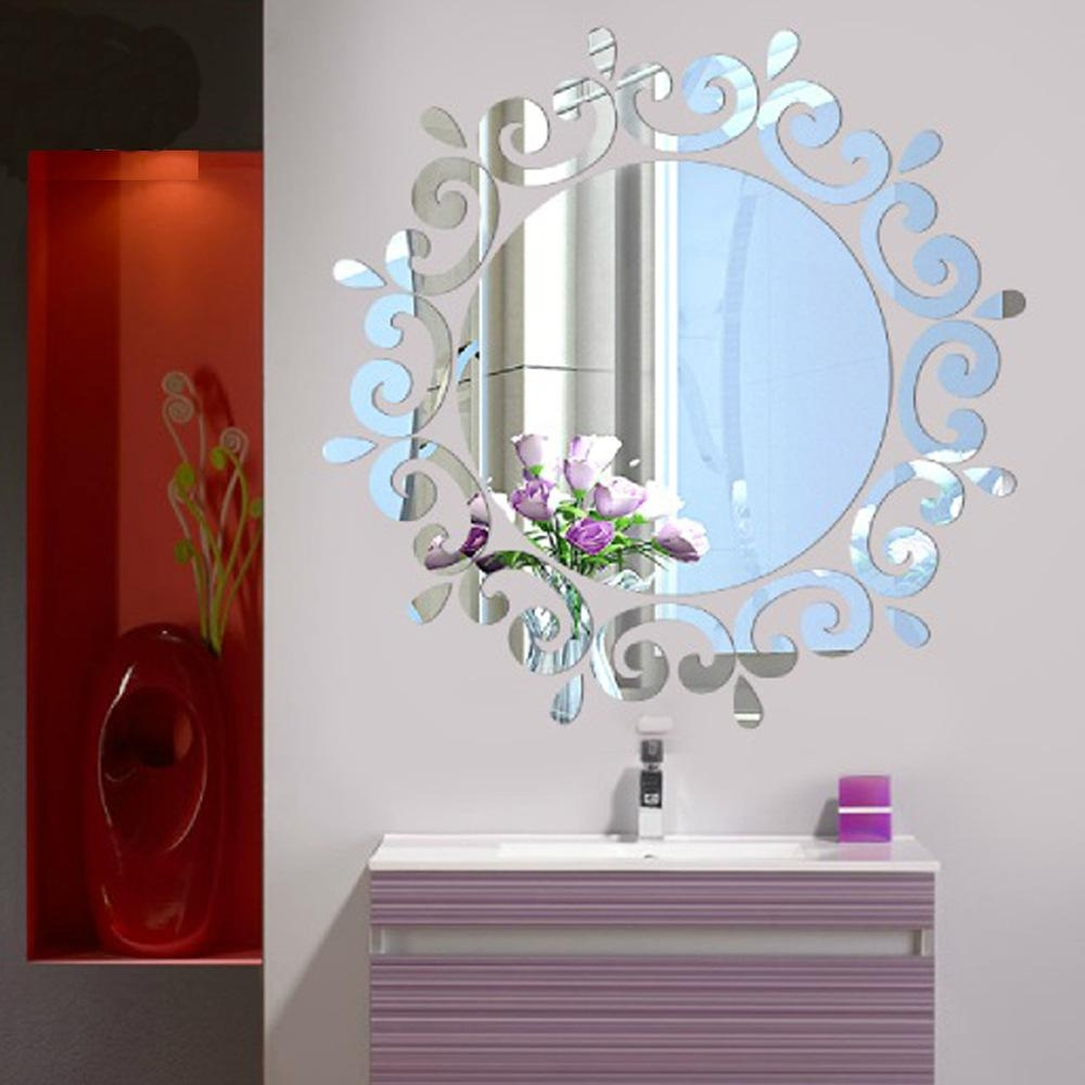 Compare Prices On Bathroom Mirror Decor  Online Shopping/buy Low Inside Modern Mirrored Wall Art (Image 7 of 20)