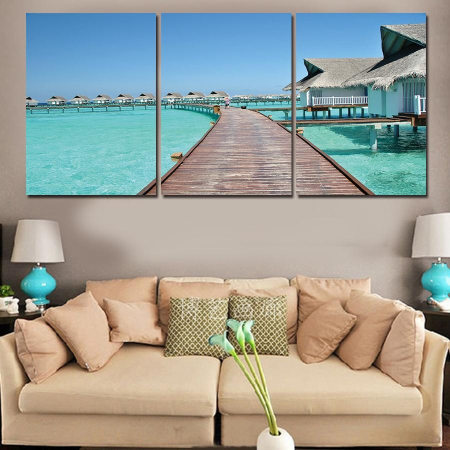 Compare Prices On Beach Wall Art  Online Shopping/buy Low Price In Beach Wall Art For Bedroom (View 12 of 20)
