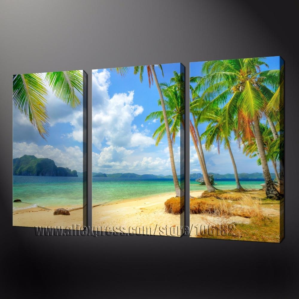 Compare Prices On Beach Wall Art Online Shopping/buy Low Price Inside 3 Piece Beach Wall Art (View 8 of 20)