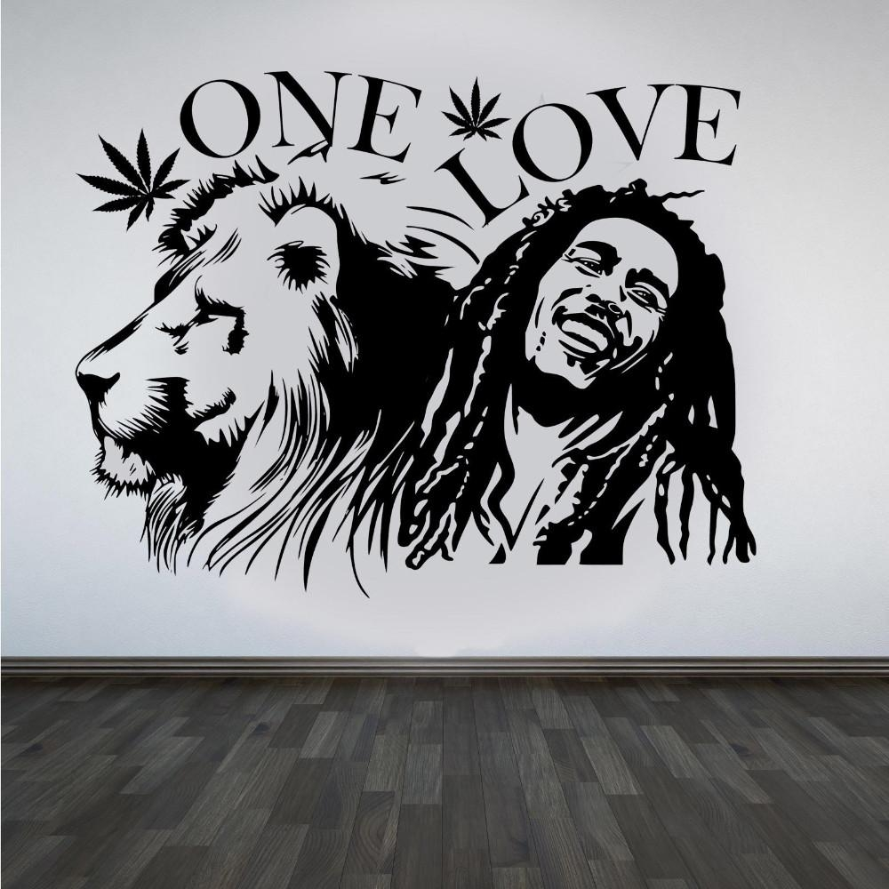 Compare Prices On Bob Marley Wall Sticker Lion Online Shopping With Bob Marley Wall Art (View 13 of 20)