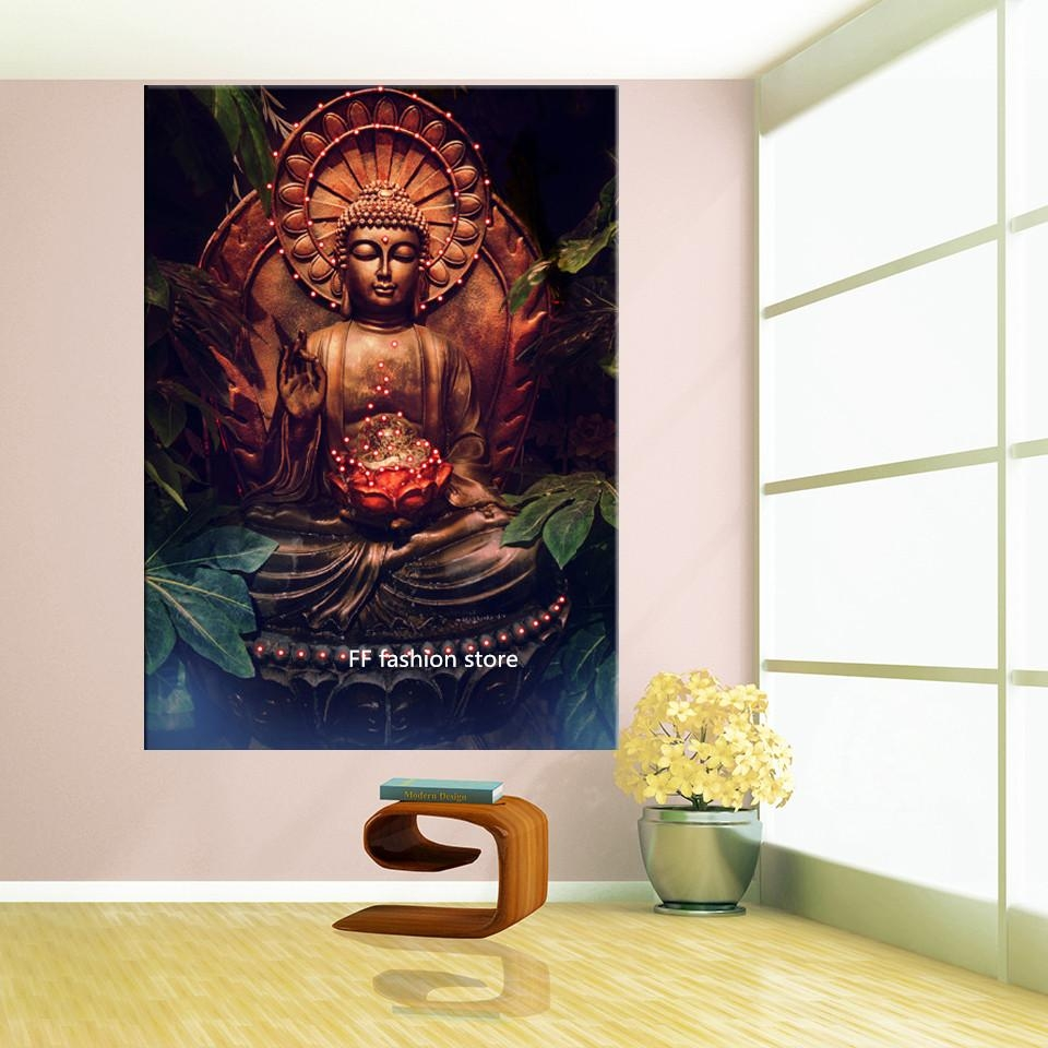 Compare Price To Wall Painting Kit: 20 Ideas Of 3D Buddha Wall Art
