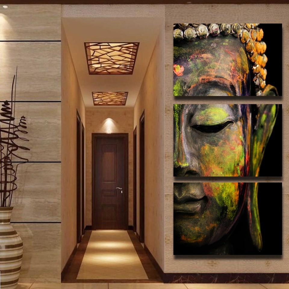 Compare Prices On Buddha Art Prints Online Shopping/buy Low Price Regarding Large Buddha Wall Art (View 9 of 20)