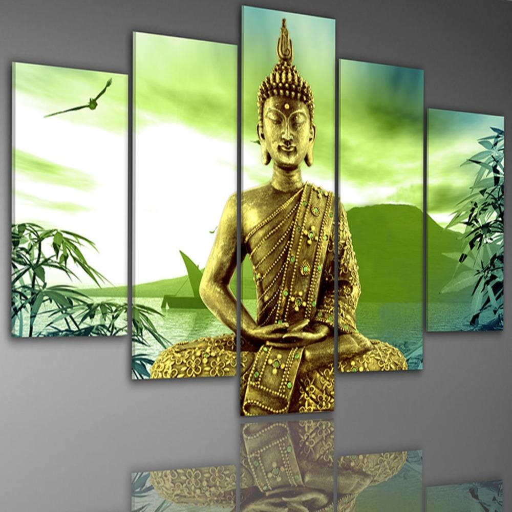 Compare Prices On Buddha Hand Large Painting  Online Shopping/buy With Regard To Large Buddha Wall Art (Image 8 of 20)