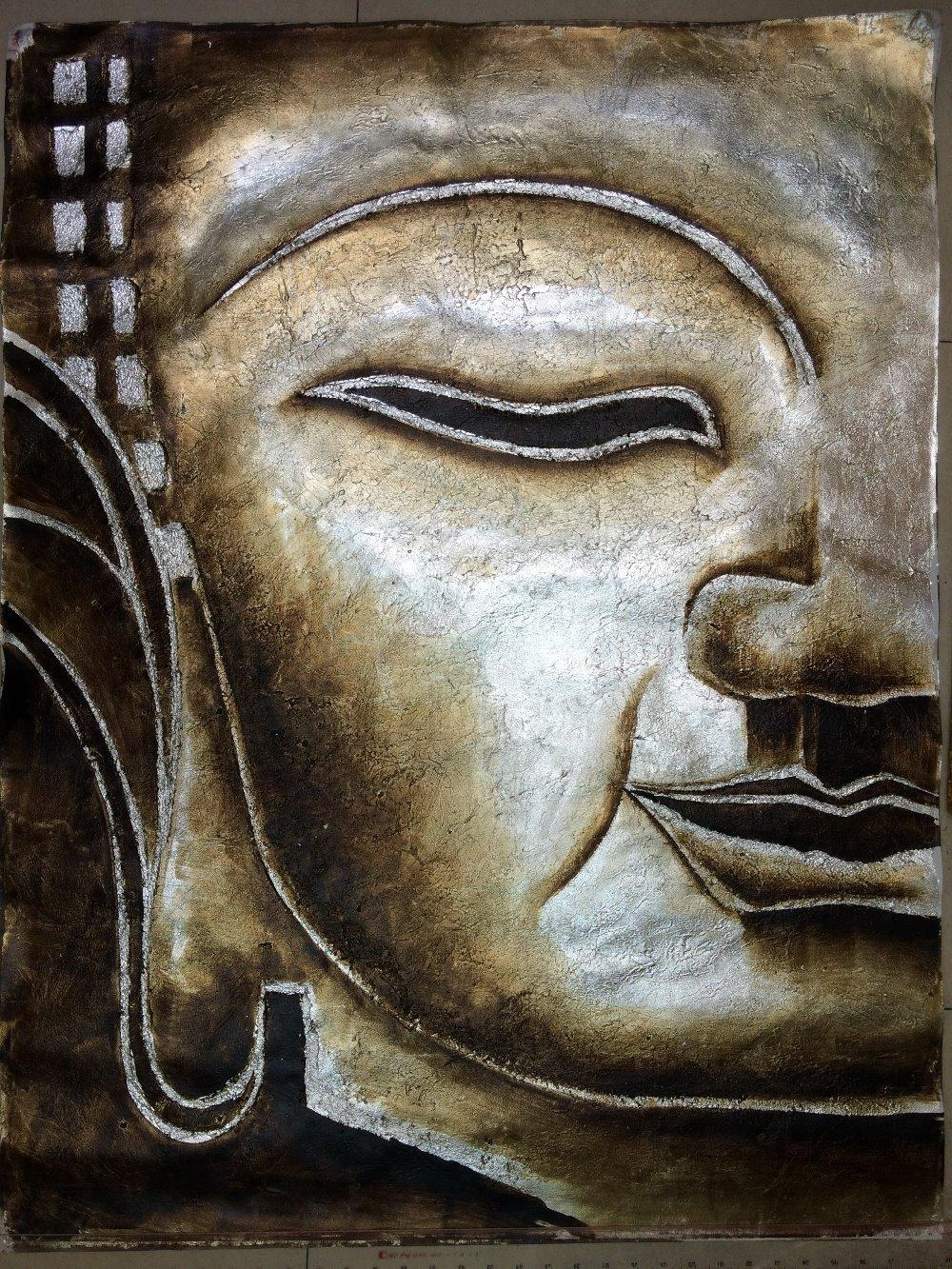 Compare Prices On Buddha Wall Art  Online Shopping/buy Low Price Throughout Silver Buddha Wall Art (Image 8 of 20)
