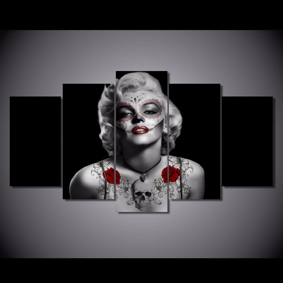 Compare Prices On Canvas Marilyn Monroe Online Shopping/buy Low Within Marilyn Monroe Black And White Wall Art (View 14 of 20)