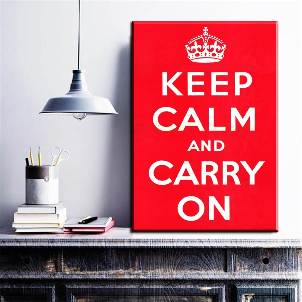 Compare Prices On Canvas Wall Art Words  Online Shopping/buy Low With Keep Calm And Carry On Wall Art (Image 1 of 20)