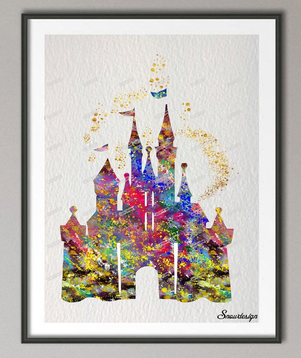 Compare Prices On Cinderella Castle Painting Online Shopping/buy In Disney Princess Framed Wall Art (View 11 of 20)