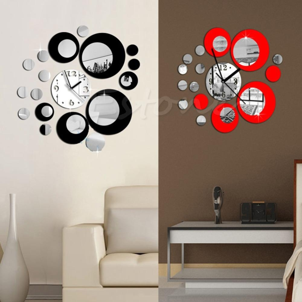 Compare Prices On Circle Wall Mirror  Online Shopping/buy Low Intended For Modern Mirror Wall Art (Image 7 of 20)