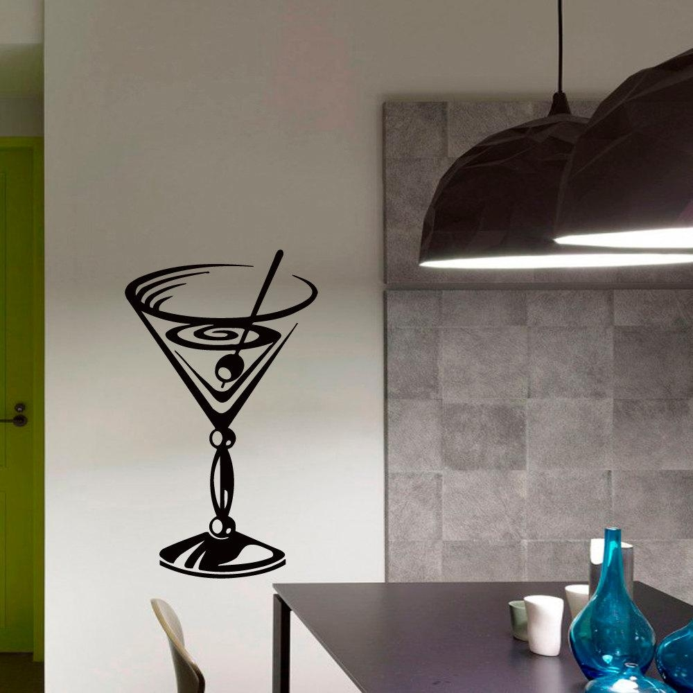 Compare Prices On Cocktail Stickers Online Shopping/buy Low Price For Martini Glass Wall Art (View 8 of 20)