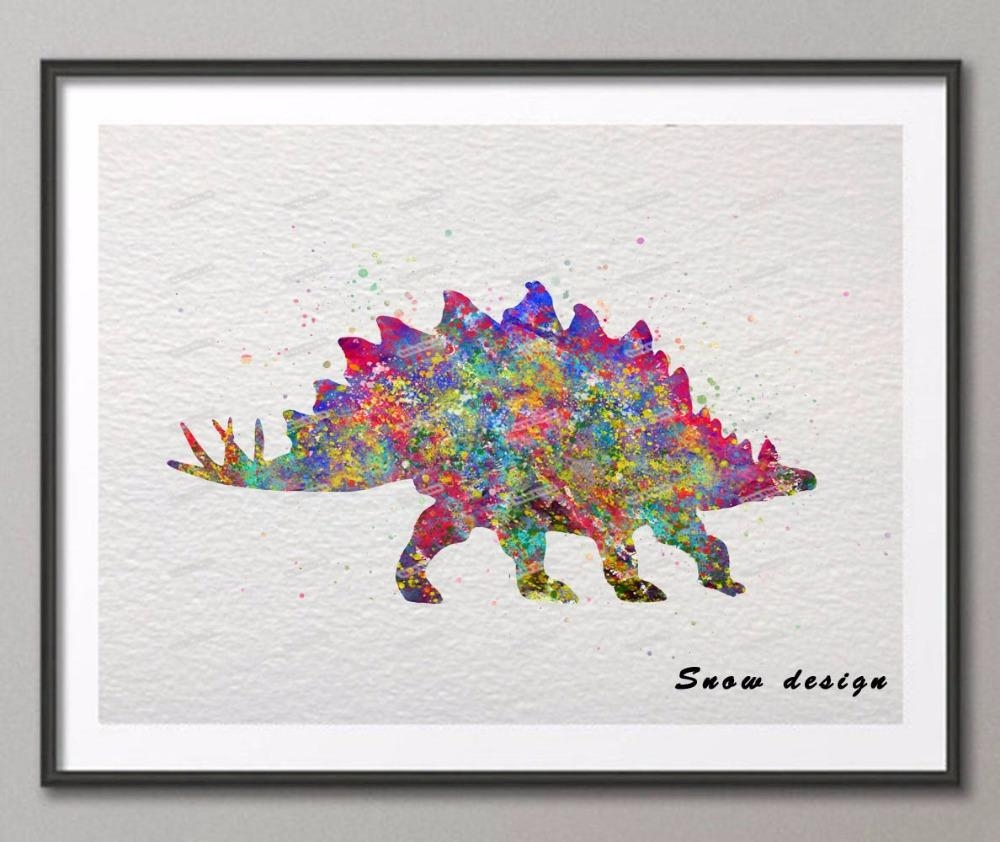 Compare Prices On Dinosaur Art Prints Online Shopping/buy Low Inside Dinosaur Canvas Wall Art (View 15 of 20)