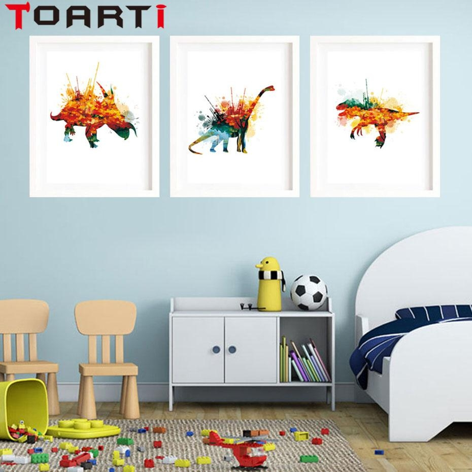 Compare Prices On Dinosaur Canvas Wall Art Online Shopping/buy Throughout Dinosaur Canvas Wall Art (View 9 of 20)