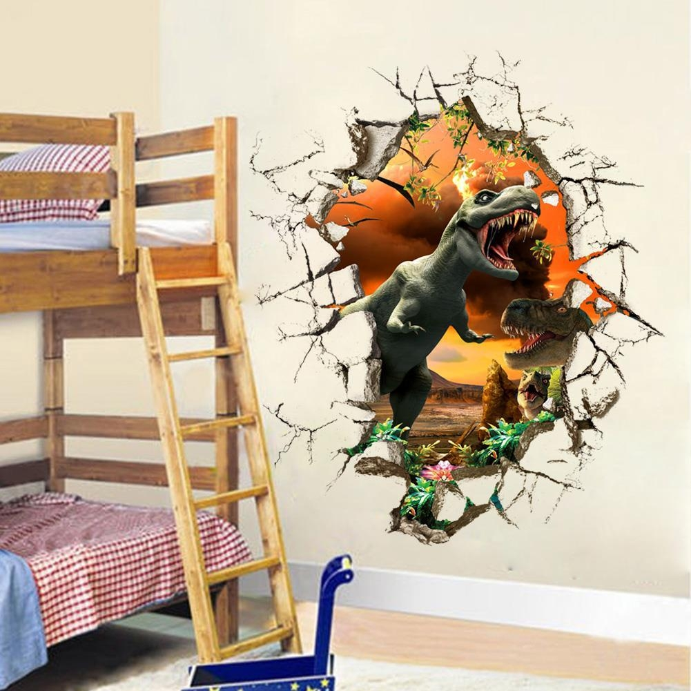 Compare Prices On Dinosaur Wall Stickers  Online Shopping/buy Low In Dinosaur Wall Art For Kids (Image 5 of 20)
