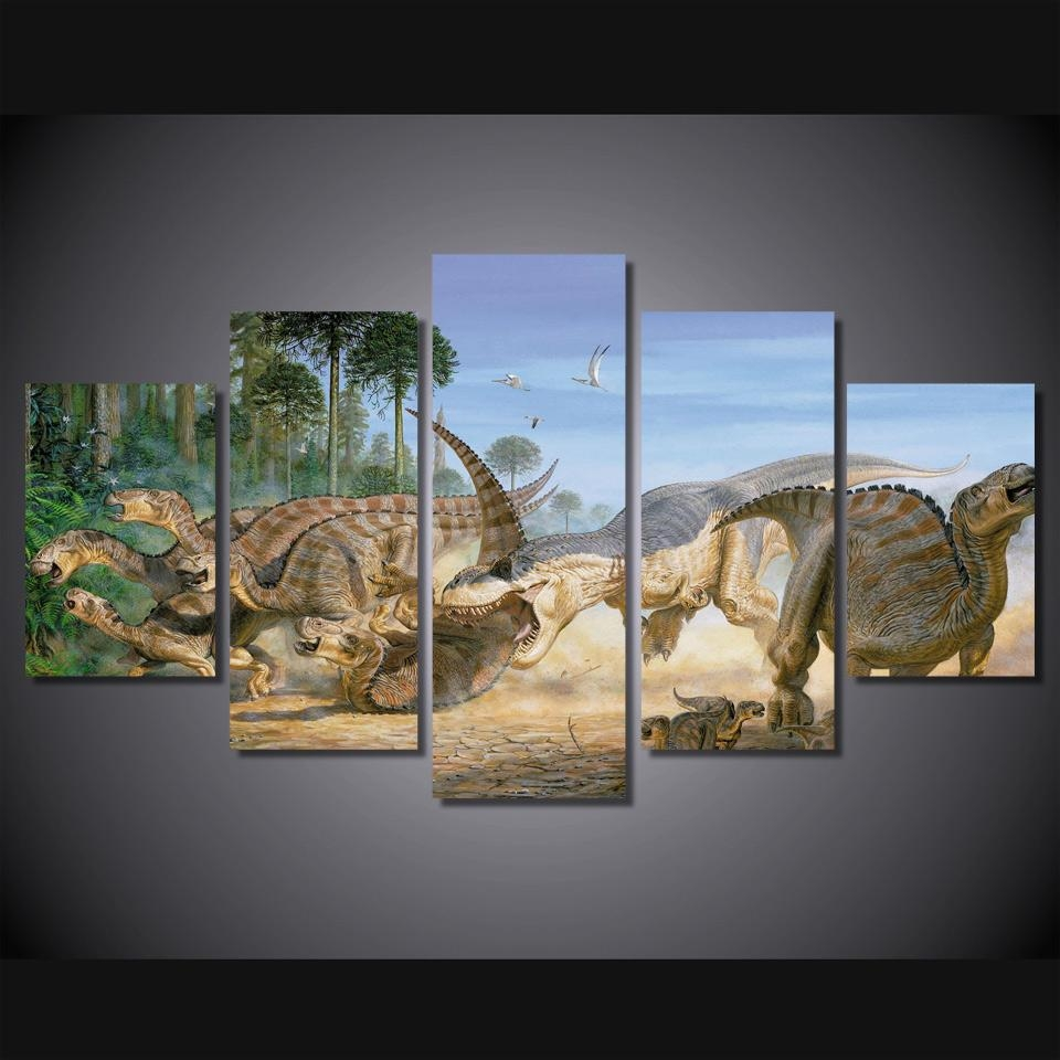 Compare Prices On Dinosaurs Posters Online Shopping/buy Low Price Within Dinosaur Canvas Wall Art (View 10 of 20)
