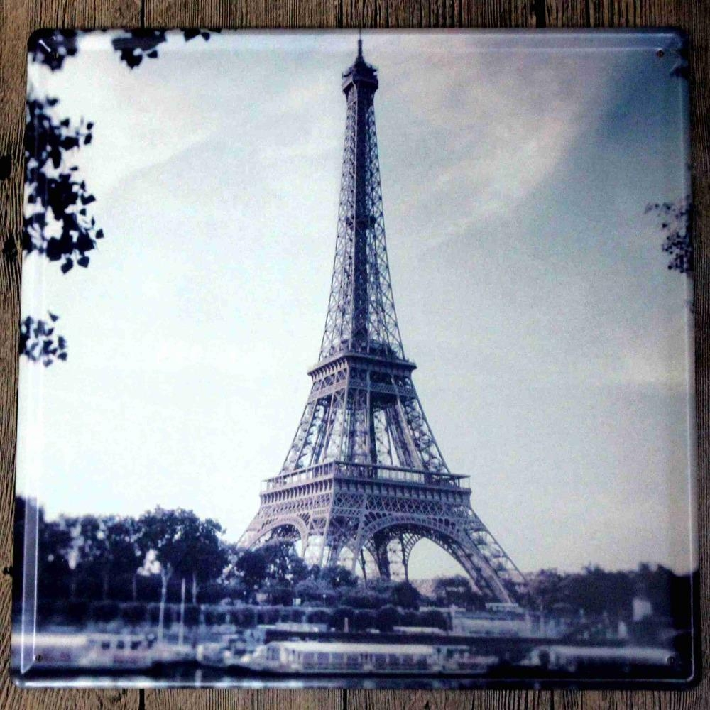 Compare Prices On Eiffel Tower Plate Online Shopping/buy Low Pertaining To Eiffel Tower Metal Wall Art (View 15 of 20)