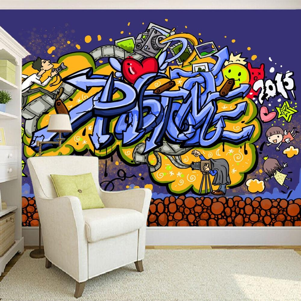 Compare Prices On Graffiti Wall Paper Online Shopping/buy Low Pertaining To Personalized Graffiti Wall Art (View 13 of 20)