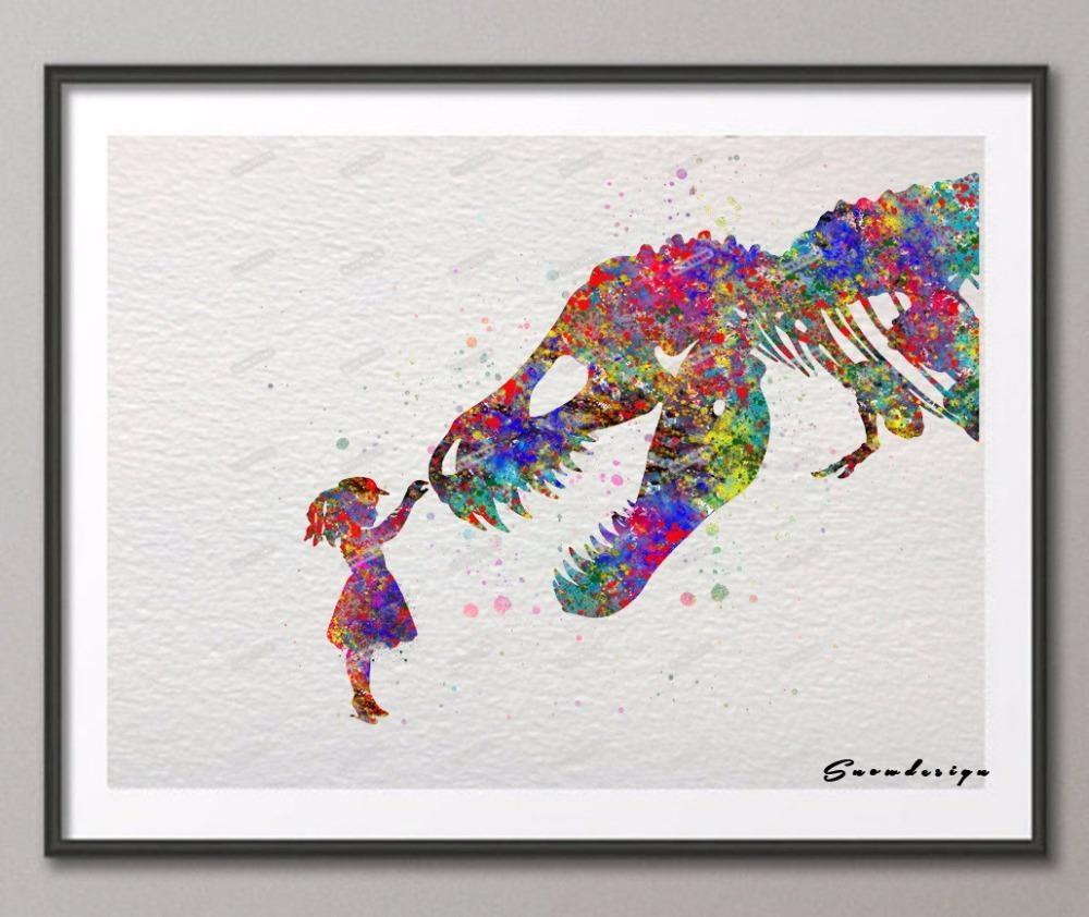 Compare Prices On Kids Room Art Print Dinosaur  Online Shopping Inside Dinosaur Wall Art For Kids (Image 6 of 20)