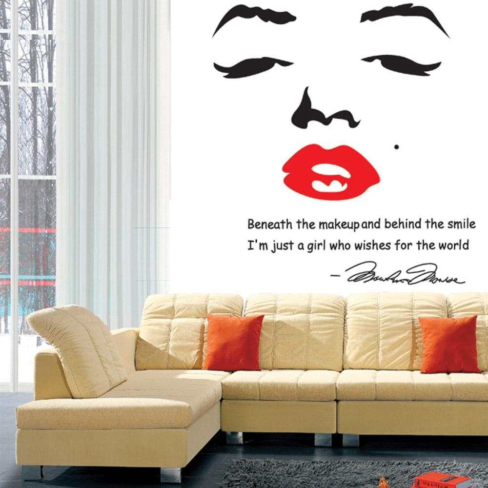 Compare Prices On Marilyn Monroe Stickers Online Shopping/buy Low Throughout Marilyn Monroe Wall Art (View 19 of 20)