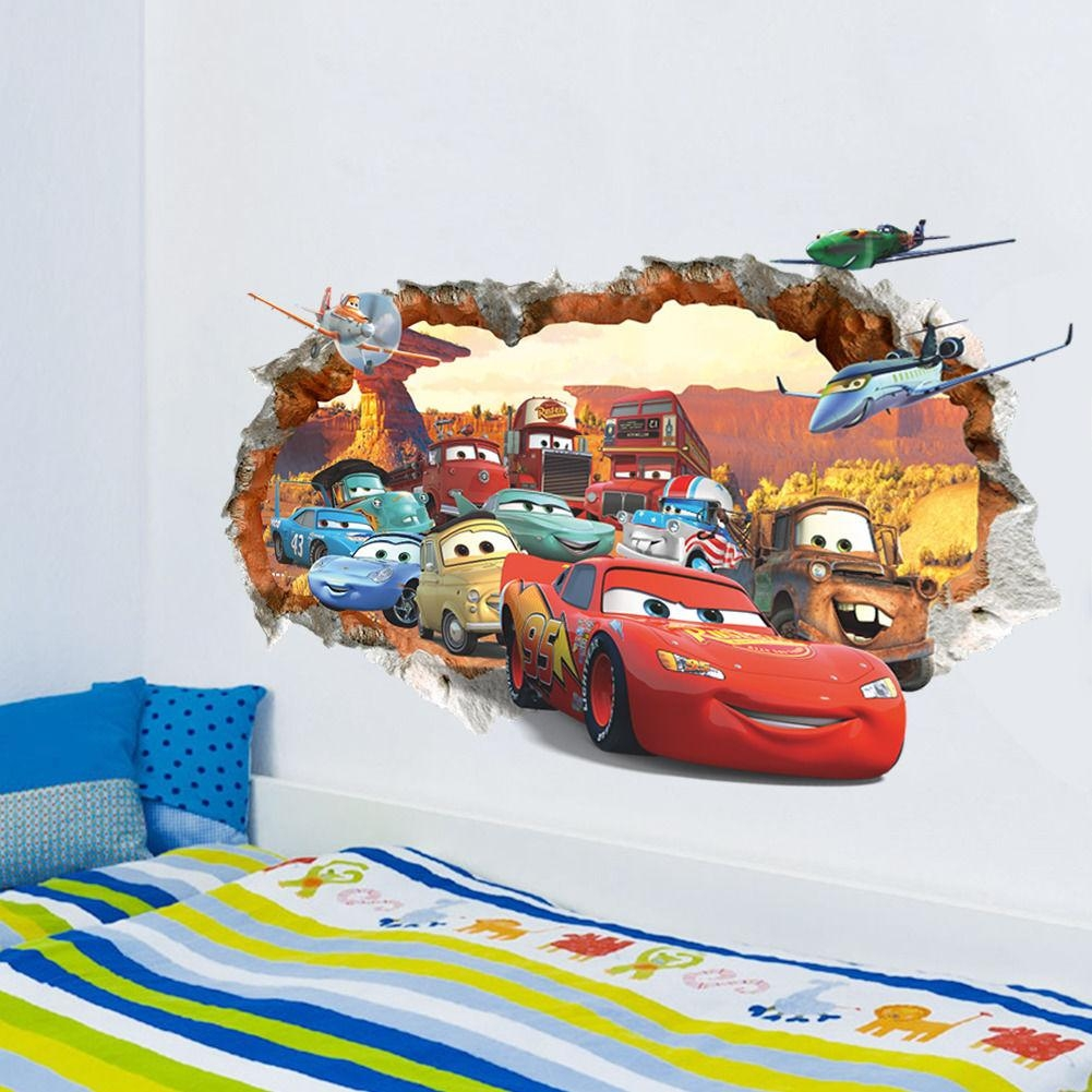 Compare Prices On Mcqueen Stickers Online Shopping/buy Low Price Throughout Lightning Mcqueen Wall Art (View 5 of 20)