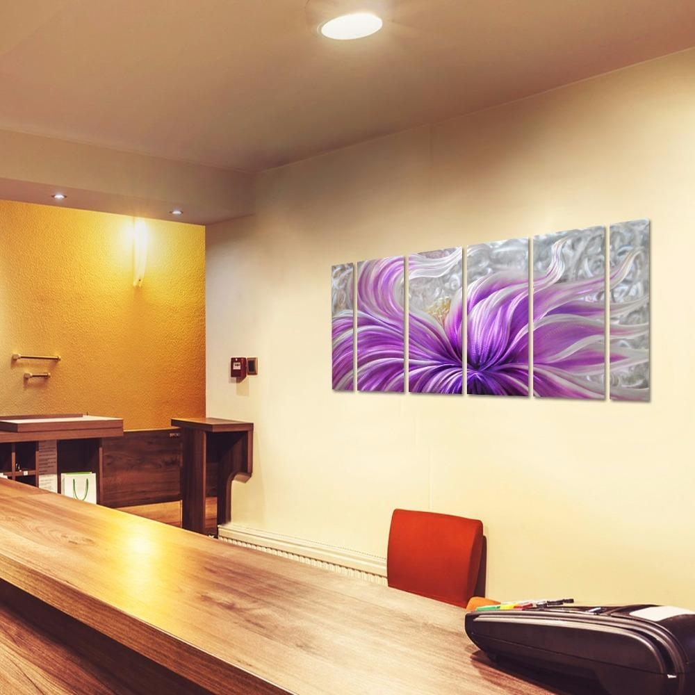 Compare Prices On Metal Wall Art Flowers  Online Shopping/buy Low With Regard To Purple Flower Metal Wall Art (Image 6 of 20)
