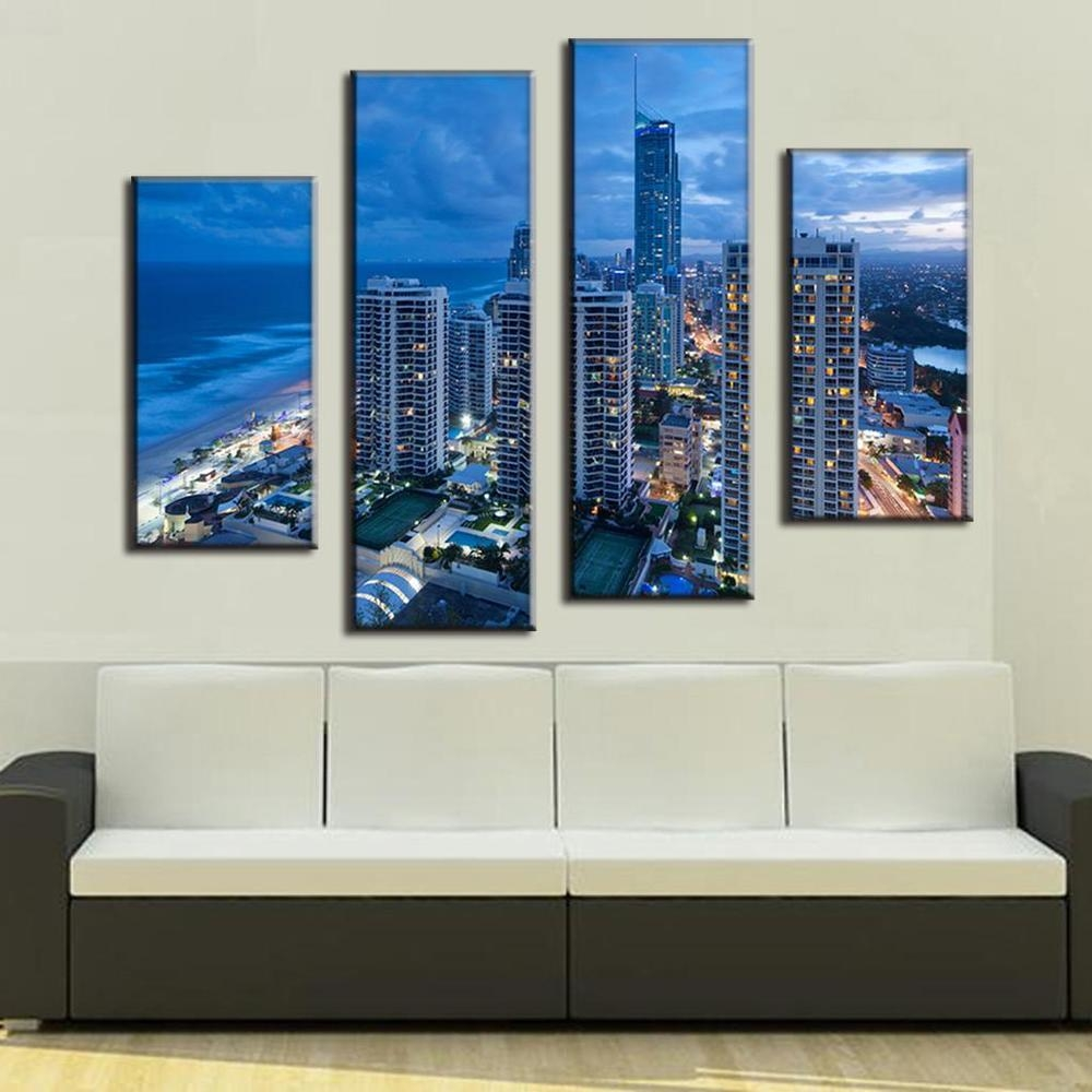 Compare Prices On Modern Cityscapes Online Shopping/buy Low Price Within Cityscape Canvas Wall Art (View 13 of 20)