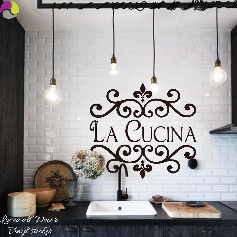 Compare Prices On Modern Italian Kitchen Online Shopping/buy Low Within Cucina Wall Art (View 3 of 20)